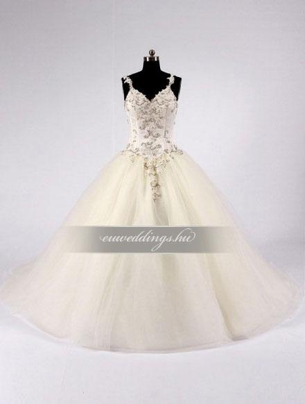 Menyasszonyi ruha báli fazonú pántos-BFP-4034