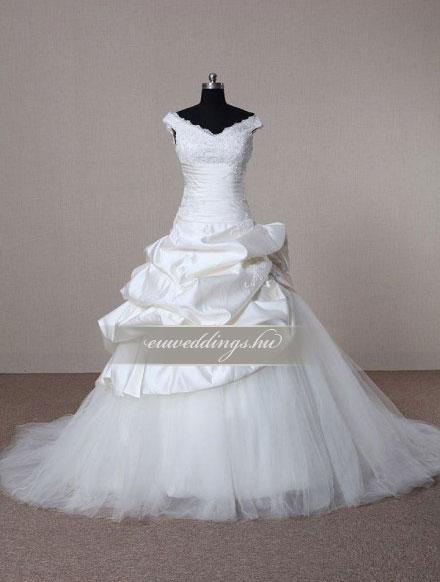 Menyasszonyi ruha báli fazonú pántos-BFP-4382