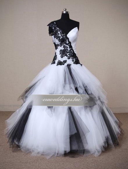 Menyasszonyi ruha báli fazonú színes és mintás-BFS-4626