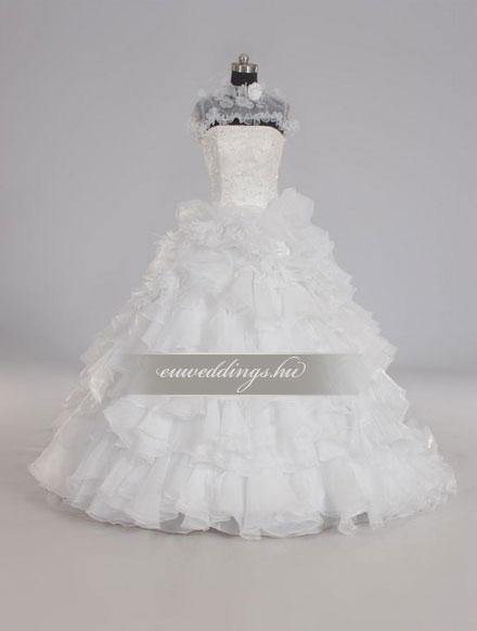 Esküvői ruha báli fazonú ujjatlan-BFU-4773