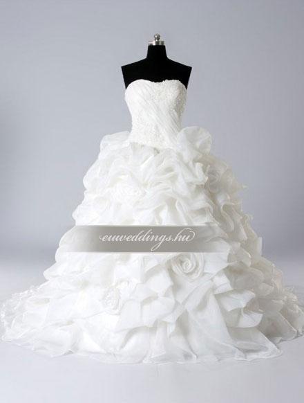 Esküvői ruha báli fazonú ujjatlan-BFU-5012