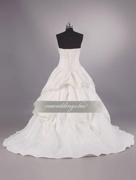 Esküvői ruha báli fazonú ujjatlan-BFU-5056
