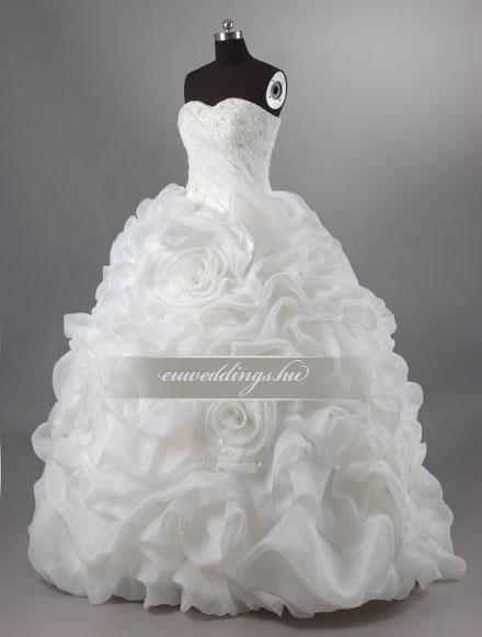 Esküvői ruha báli fazonú ujjatlan-BFU-5138