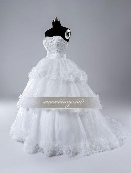 Esküvői ruha báli fazonú ujjatlan-BFU-5202