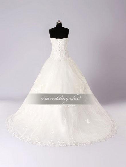 Esküvői ruha báli fazonú ujjatlan-BFU-5272