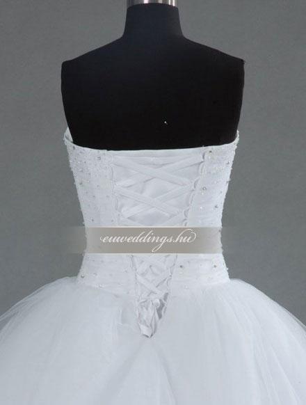 Esküvői ruha báli fazonú ujjatlan-BFU-5565