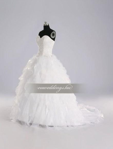 Esküvői ruha báli fazonú ujjatlan-BFU-5723
