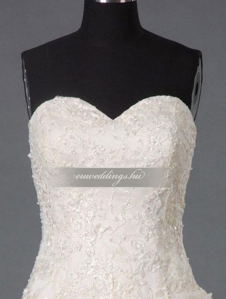 Esküvői ruha báli fazonú ujjatlan-BFU-5817
