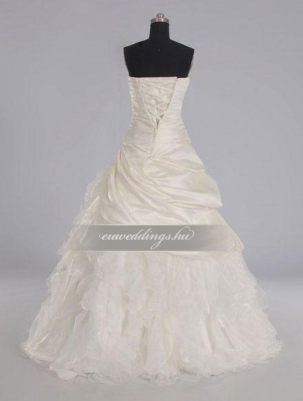 Esküvői ruha báli fazonú ujjatlan-BFU-5879