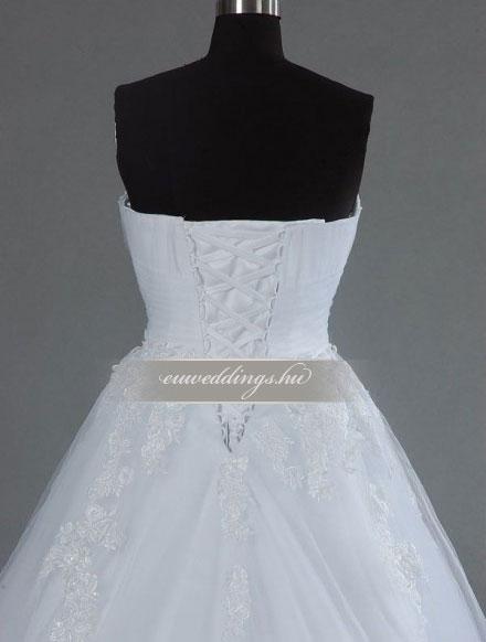 Esküvői ruha báli fazonú ujjatlan-BFU-5956