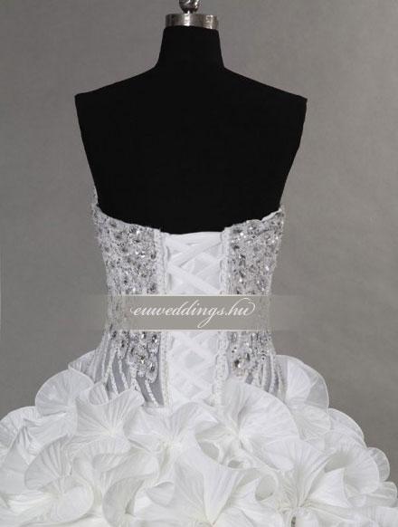 Esküvői ruha báli fazonú ujjatlan-BFU-5990