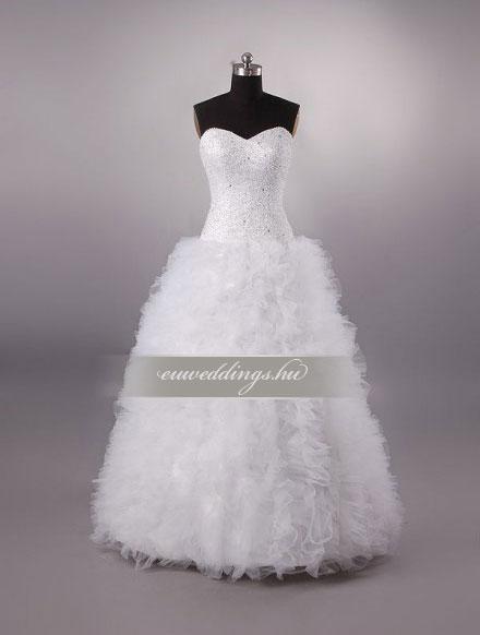 Esküvői ruha báli fazonú ujjatlan-BFU-6029