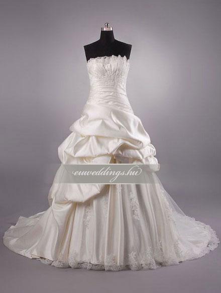 Esküvői ruha báli fazonú ujjatlan-BFU-6091