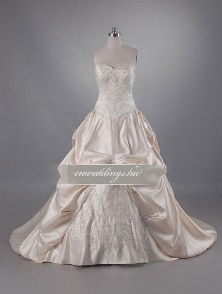 Esküvői ruha báli fazonú ujjatlan-BFU-6476