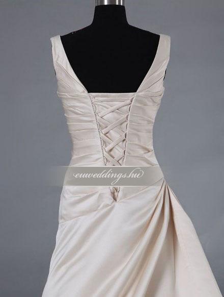 Menyasszonyi ruha csípőtől bővülő pántos-CBP-6639