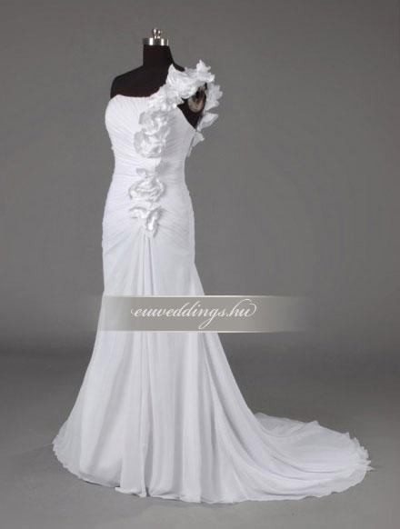 Menyasszonyi ruha csípőtől bővülő pántos-CBP-6677