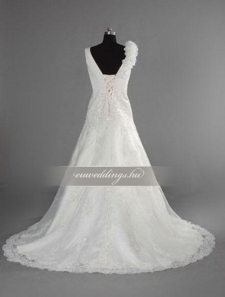 Menyasszonyi ruha csípőtől bővülő pántos-CBP-6802