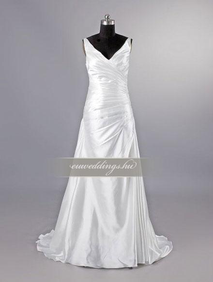 Menyasszonyi ruha csípőtől bővülő pántos-CBP-6964