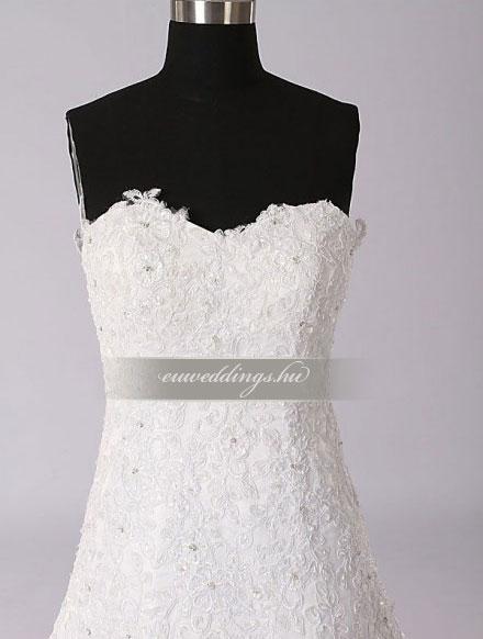 Esküvői ruha csípőtől bővülő ujjatlan-CBU-7325