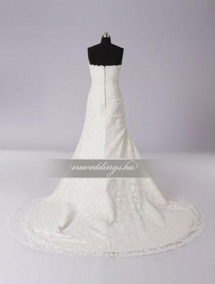 Esküvői ruha csípőtől bővülő ujjatlan-CBU-7388