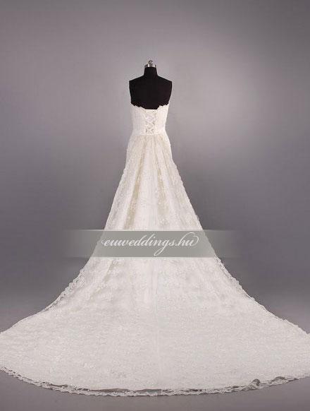 Esküvői ruha csípőtől bővülő ujjatlan-CBU-7408