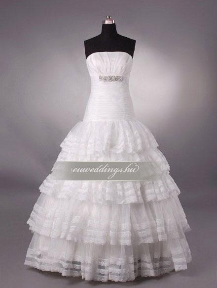 Esküvői ruha csípőtől bővülő ujjatlan-CBU-7546