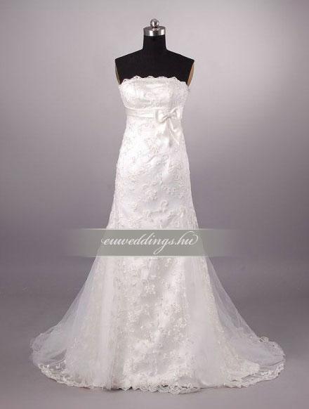 Esküvői ruha csípőtől bővülő ujjatlan-CBU-7757