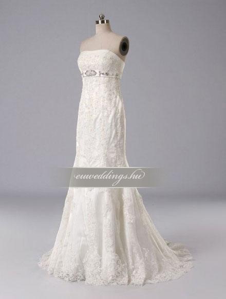 Esküvői ruha csípőtől bővülő ujjatlan-CBU-7767