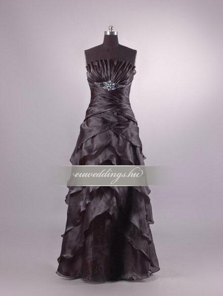 Menyasszonyi ruha egyenes fazonú mintás és színes-EFH-7857