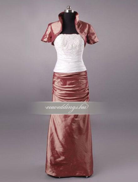 Menyasszonyi ruha egyenes fazonú mintás és színes-EFH-7867
