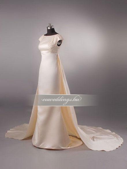 Menyasszonyi ruha egyenes fazonú mintás és színes-EFH-7876