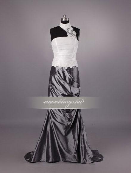 Menyasszonyi ruha egyenes fazonú mintás és színes-EFH-7881