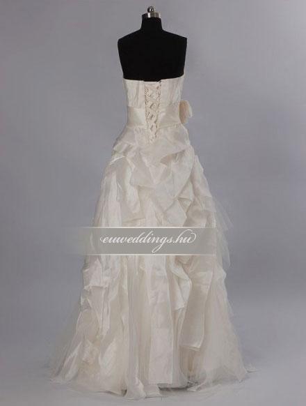 Menyasszonyi ruha egyenes fazonú mintás és színes-EFH-7921