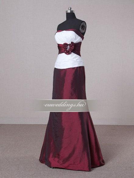 Menyasszonyi ruha egyenes fazonú mintás és színes-EFH-7935