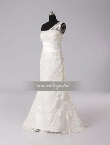 Esküvői ruha egyenes fazonú pántos-EFP-8008