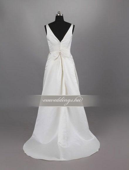 Esküvői ruha egyenes fazonú pántos-EFP-8038