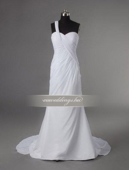 Esküvői ruha egyenes fazonú pántos-EFP-8116