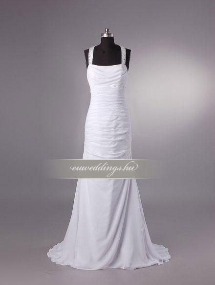 Esküvői ruha egyenes fazonú pántos-EFP-8149