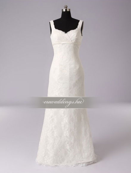 Esküvői ruha egyenes fazonú pántos-EFP-8154
