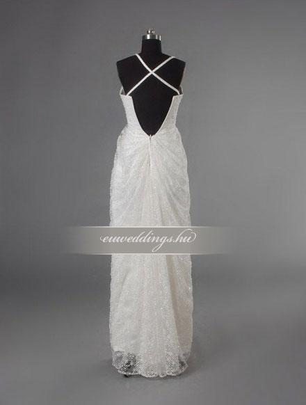Esküvői ruha egyenes fazonú pántos-EFP-8159