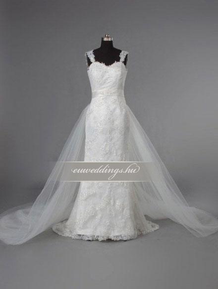 Esküvői ruha egyenes fazonú pántos-EFP-8185