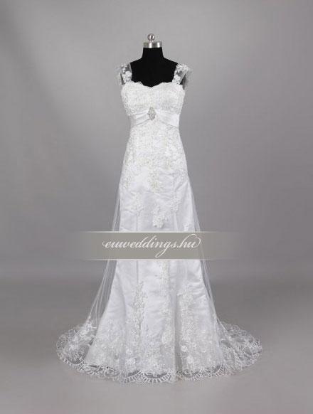 Esküvői ruha egyenes fazonú pántos-EFP-8192