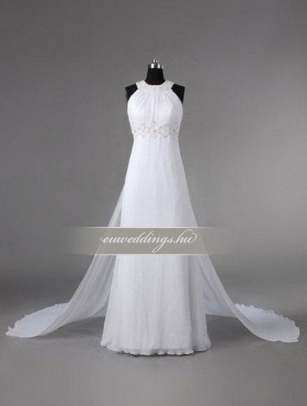 Esküvői ruha egyenes fazonú pántos-EFP-8207