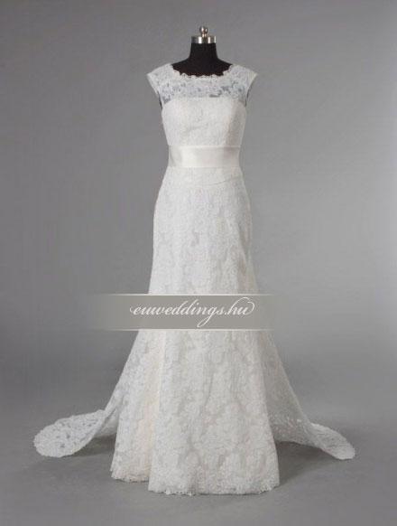 Esküvői ruha egyenes fazonú pántos-EFP-8212