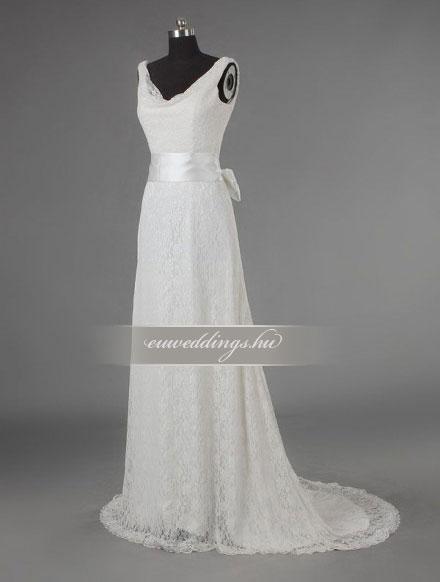 Esküvői ruha egyenes fazonú pántos-EFP-8246