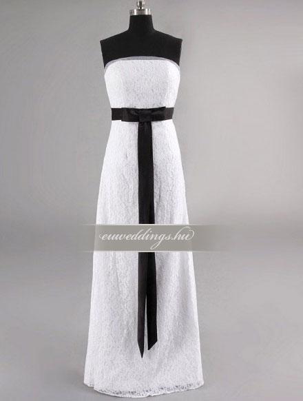 Esküvői ruha egyenes fazonú ujjatlan-EFU-8290