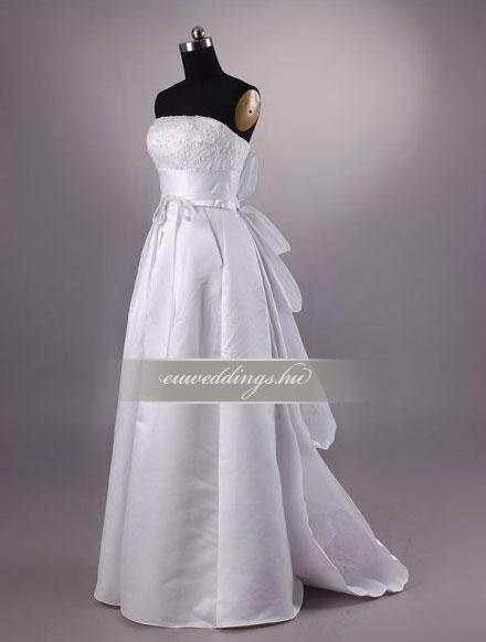 Esküvői ruha egyenes fazonú ujjatlan-EFU-8379