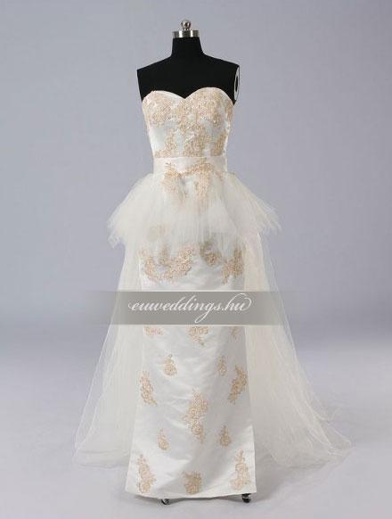 Esküvői ruha egyenes fazonú ujjatlan-EFU-8398