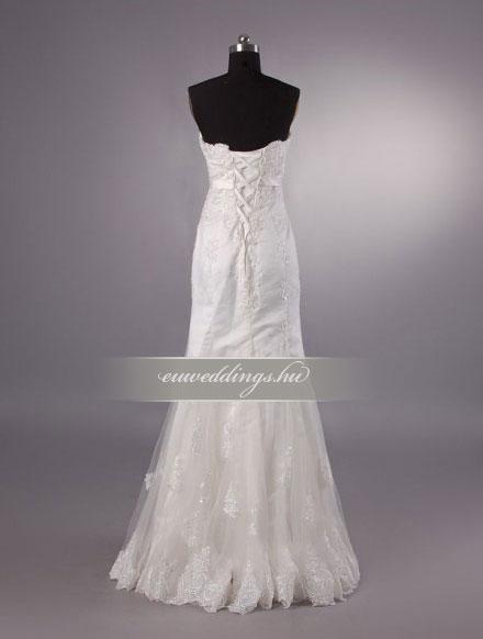Esküvői ruha egyenes fazonú ujjatlan-EFU-8464