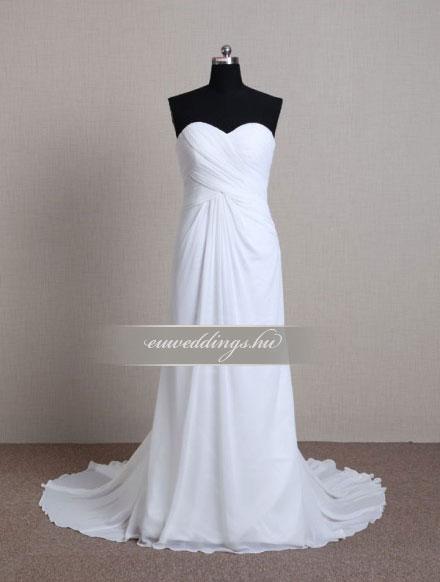 Esküvői ruha egyenes fazonú ujjatlan-EFU-8512
